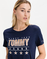 Tommy Jeans Slim Metallic Tričko